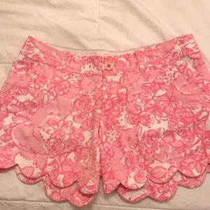 Lilly Pulitzer Scallop Buttercup Shorts